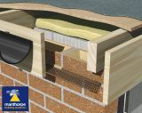 Manthorpe Flat Roof Soffit Vent ~ 2.44m Brown (Airflow 10000mm2 Per Metre Run) ~ Pack Of 10