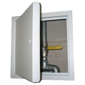 Manthorpe GL450 White (1hr Fire Rated) Access Panel - 450mm x 450mm