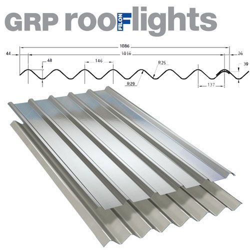 Translucent GRP Rooflight Industrial Roofing Sheet - Big Six