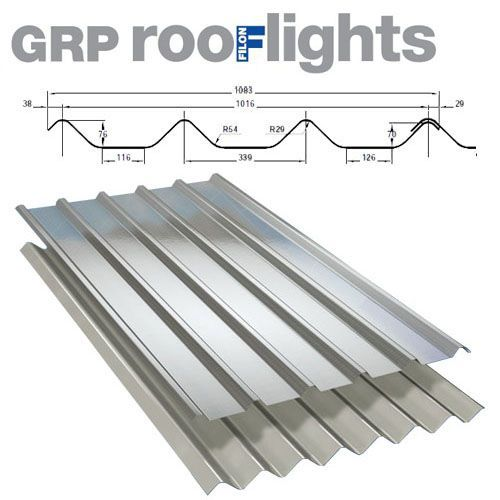 Translucent GRP Rooflight Industrial Roofing Sheet - Cape Fort