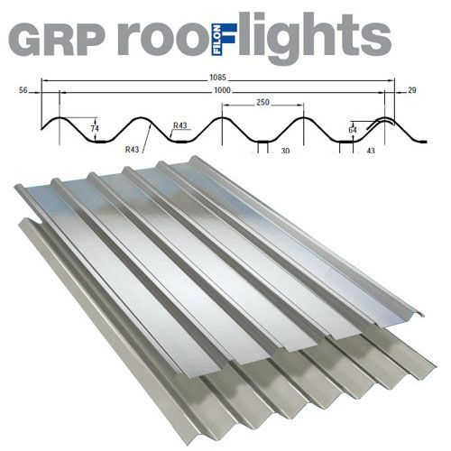 Translucent GRP Rooflight Industrial Roofing Sheet - Cape Monad