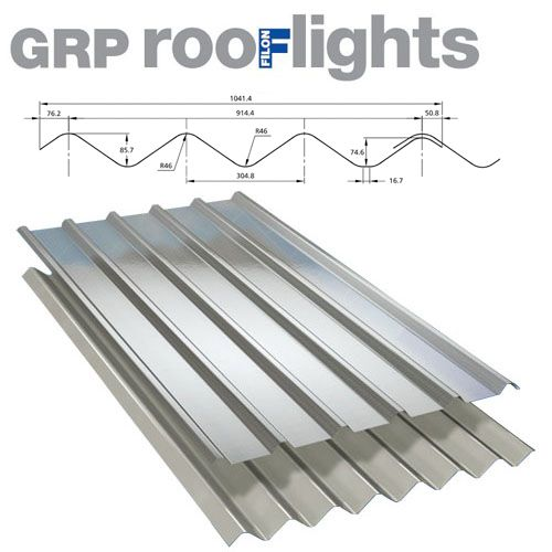 Translucent GRP Rooflight Industrial Roofing Sheet - Double Six