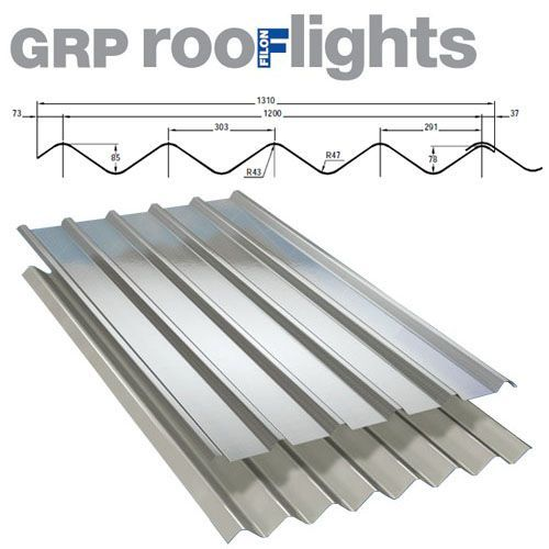 Translucent GRP Rooflight Industrial Roofing Sheet - Double Six M