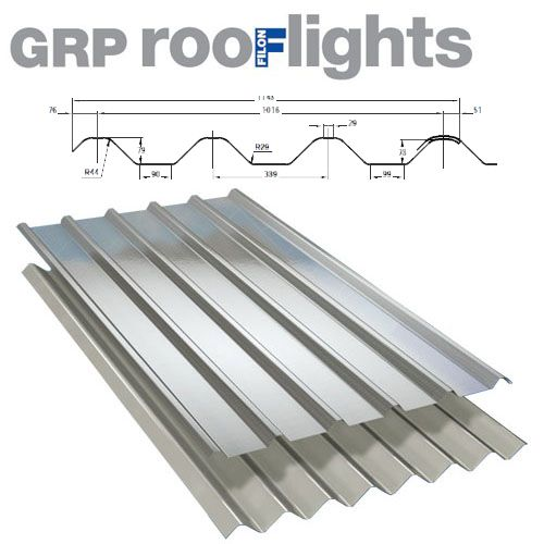 Translucent GRP Rooflight Industrial Roofing Sheet - Major Tile