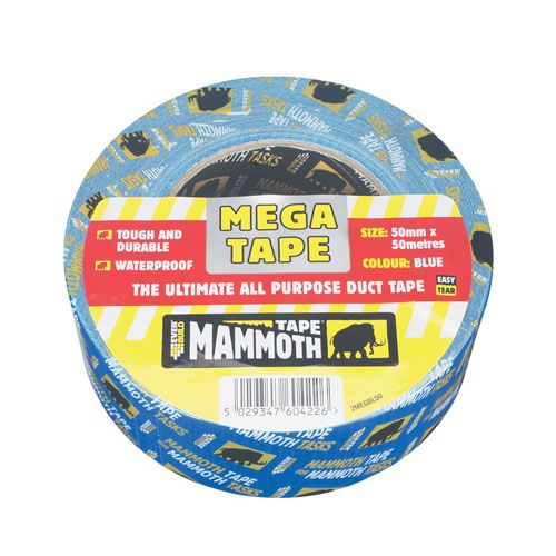 Mammoth Mega All Purpose Duct Tape 50mm x 50m - Blue