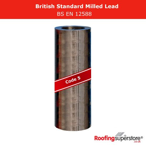 Lead Code 5 - 1.6m x 3m Roofing Lead Flashing Roll