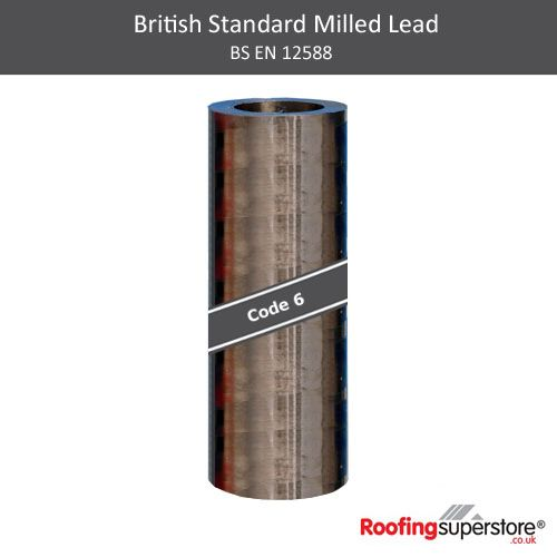 Lead Code 6 - 1.6m x 3m Roofing Lead Flashing Roll