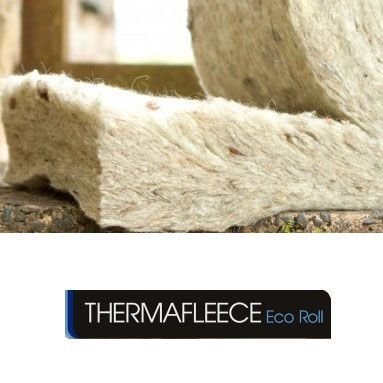 Thermafleece sheeps wool slab insulation 100mm x 370mm x 1 for Sheeps wool insulation prices
