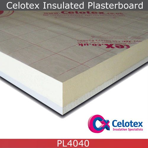Celotex Pl4040 Insulated Plasterboard 1 2m X 2 4m 52