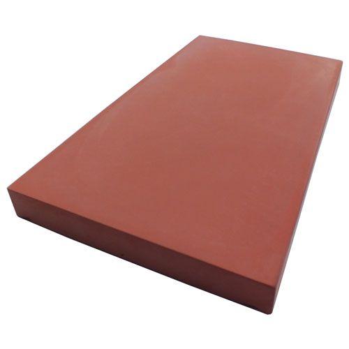 Eurodec 50mm flat concrete coping stone 600mm x 350mm brick red