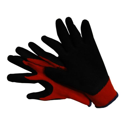 Black Latex Coated Light Thermal Lined Gripper Glove
