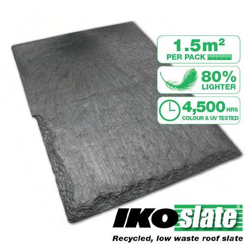 Ikoslate Recycled Composite Roof Slate 1 5m2 Bundles