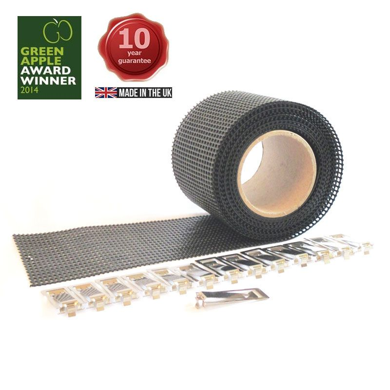 Gutter-Clear Protection Mesh Filter ~ 5m x 110mm (Black)