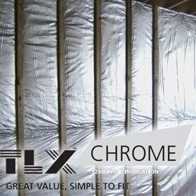 TLX Chrome Multifoil Roofing Insulation (1.2 x 12.5m Roll)