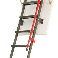 fakro lux 3 section metal loft ladder length 70cm x 120cm roofing superstore. Black Bedroom Furniture Sets. Home Design Ideas