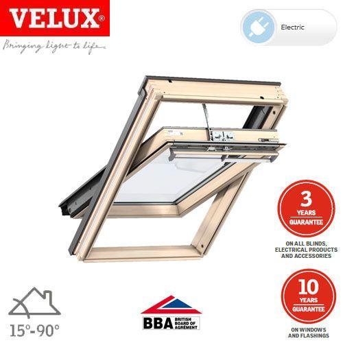 velux ggl ck04 306021u pine centre pivot integra window 55cm x 98cm roofing superstore. Black Bedroom Furniture Sets. Home Design Ideas