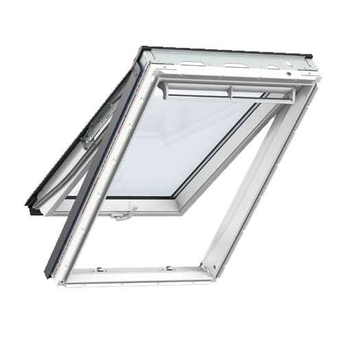 velux gpu mk06 0050 white top hung window toughened 78cm x 118cm roofing superstore. Black Bedroom Furniture Sets. Home Design Ideas