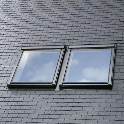 velux edl fk06 0000 single slate flashing 66cm x 118cm. Black Bedroom Furniture Sets. Home Design Ideas