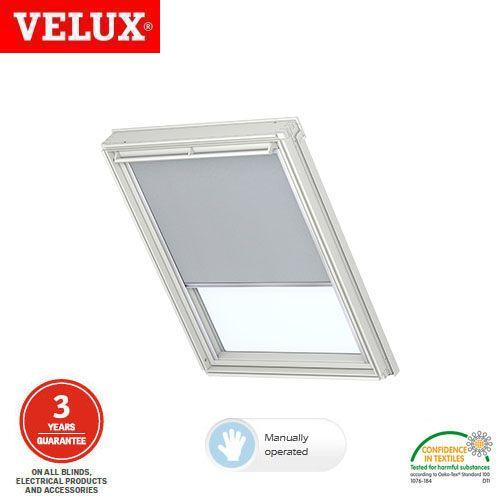 velux manual blackout blind dkl ck04 1705 light grey. Black Bedroom Furniture Sets. Home Design Ideas