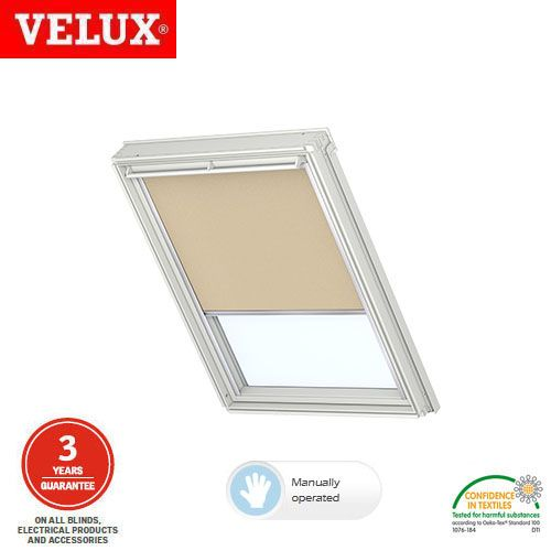velux manual blackout blind dkl mk06 3003 sand roofing superstore. Black Bedroom Furniture Sets. Home Design Ideas