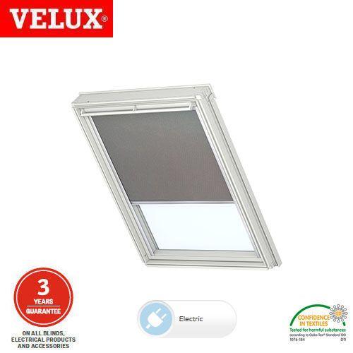 velux electric blackout blind dml fk06 0705 grey. Black Bedroom Furniture Sets. Home Design Ideas