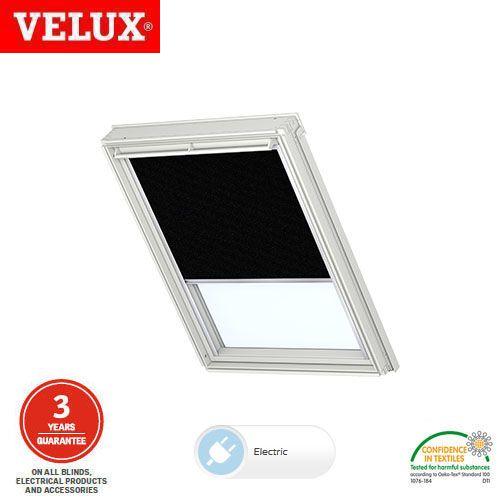 velux electric blackout blind dml uk04 3009 black. Black Bedroom Furniture Sets. Home Design Ideas