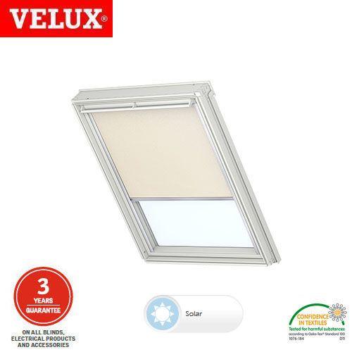 Velux solar blackout blind dsl ck04 1085 light beige for Velux solar blinds