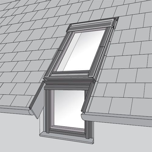 Velux efl mk04 0012 single vertical element slate flashing for Outlet velux