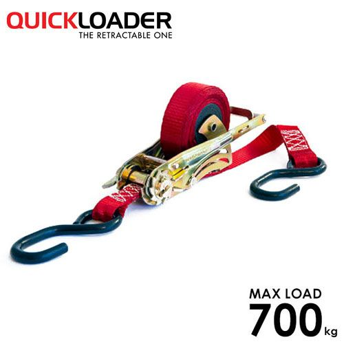 Quickloader Retractable Tie Down Ratchet 3.5m x 25mm Mosquito - Single