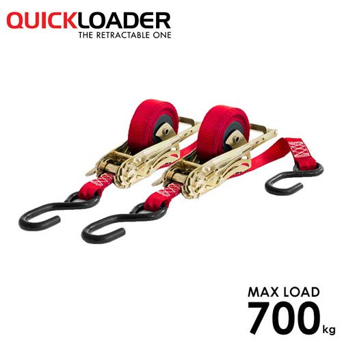 Quickloader Retractable Tie Down Ratchet 3.5m x 25mm Mosquito - Twin