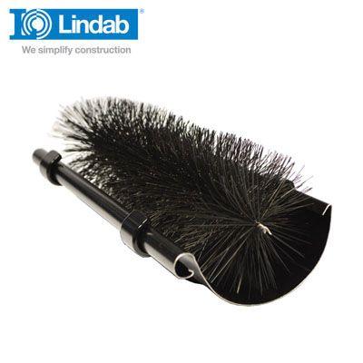 Lindab 3m Length Leafline Gutter Brush Black - 100mm ...