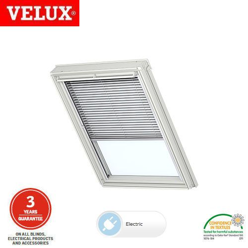 Velux Electric Venetian Blind Pml Sk06 7010 Silver Grey