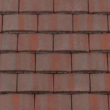 Redland Concrete Plain Roof Tile - Breckland Brown