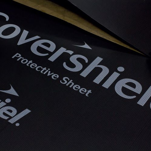 Covershield Flat Standard Protective Sheets 1200mm x 2400mm - Black
