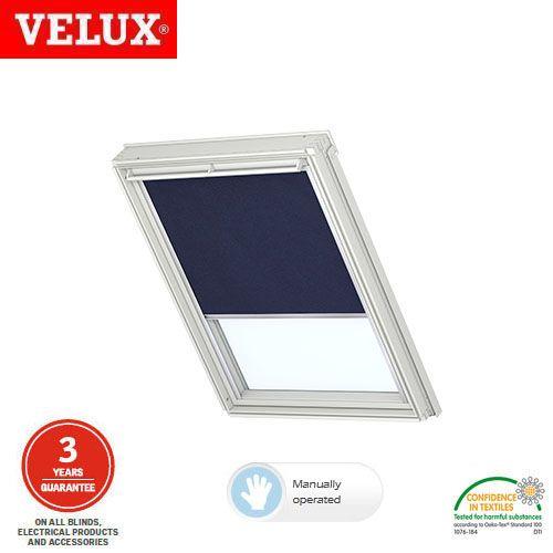 Velux Manual Blackout Blind Dkl Fk04 1100 Dark Blue