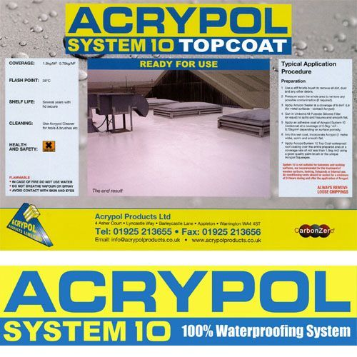 Acrypol System 10 Light Grey Topcoat - 20kg
