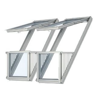 special 2 x velux cabrio balcony systems with 120mm gap. Black Bedroom Furniture Sets. Home Design Ideas