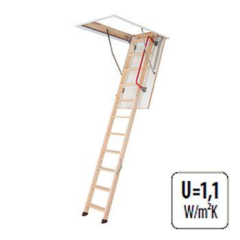 Fakro Metal Frame 3 Section Wooden Loft Ladder 2 8m 60cm