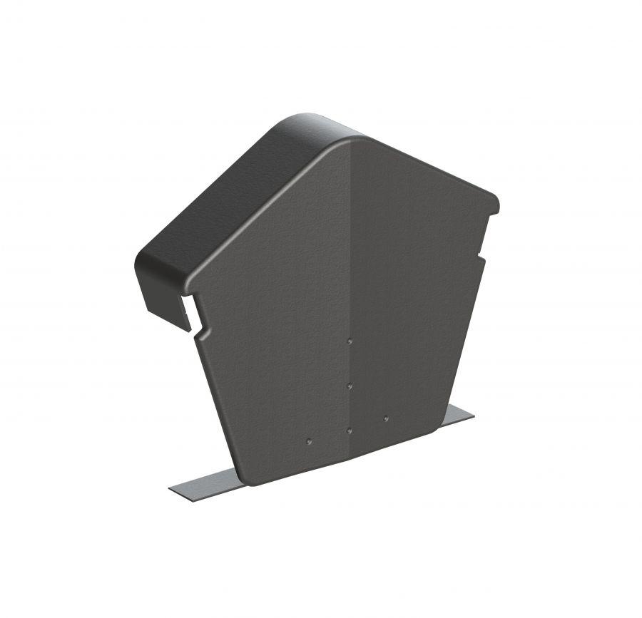 Universal Dry Verge Angled Ridge End Cap Grey Pack Of 2