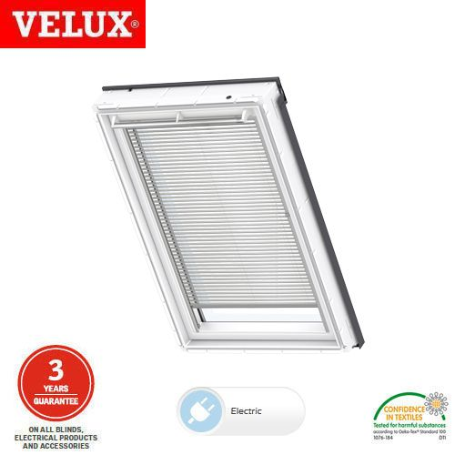 Velux electric venetian blind pml mk04 7001 white for Velux skylight remote control manual