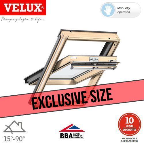 velux ggl bk04 3050 pine centre pivot window toughened 47cm x 98cm roofing superstore. Black Bedroom Furniture Sets. Home Design Ideas