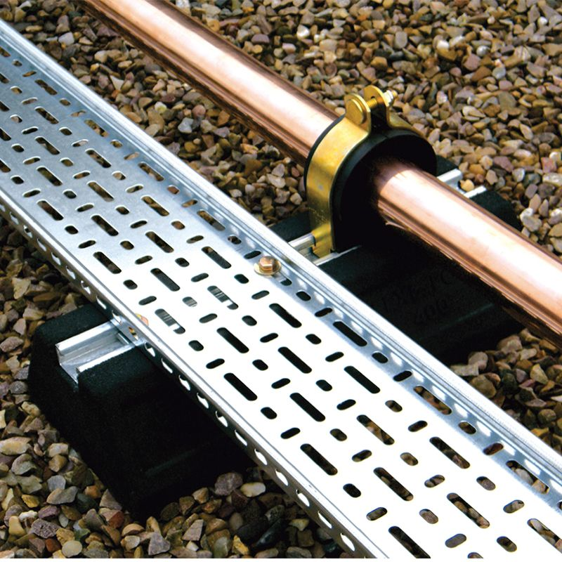 Cable Tray And Pipework Support Foot Flexi Foot 400mm
