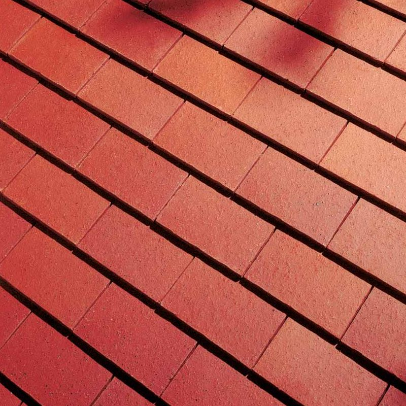 Dreadnought premium clay roofing tile plum red smooth for Clay tile roofs