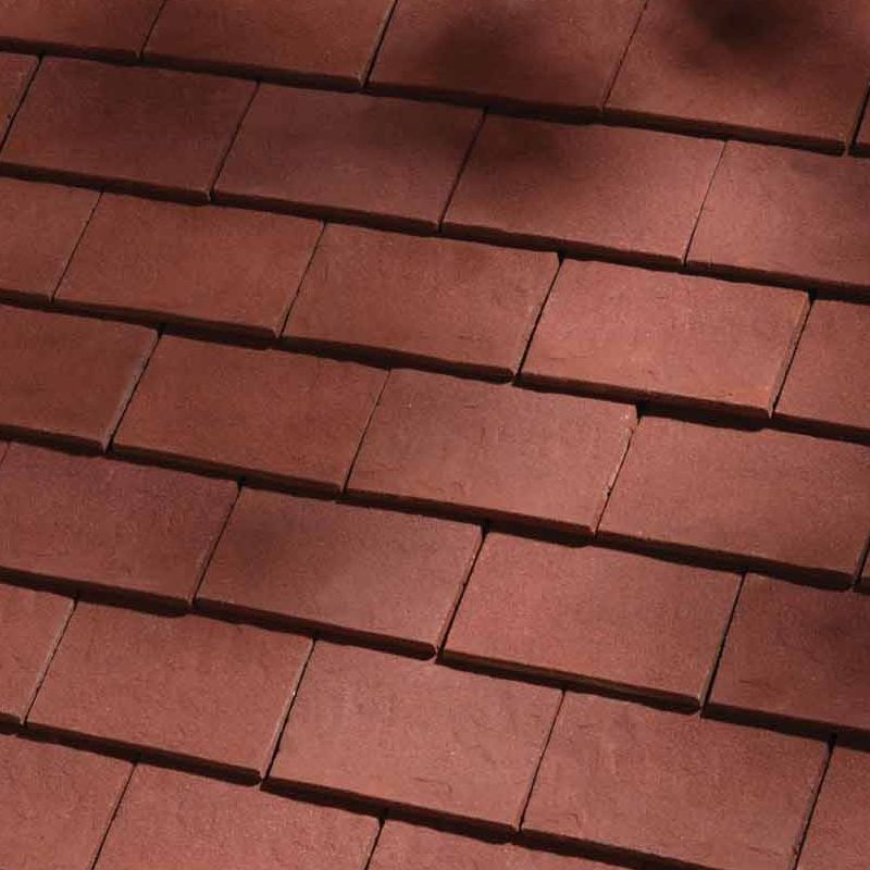 Dreadnought classic clay roofing tile deep red sandfaced for Clay tile roof