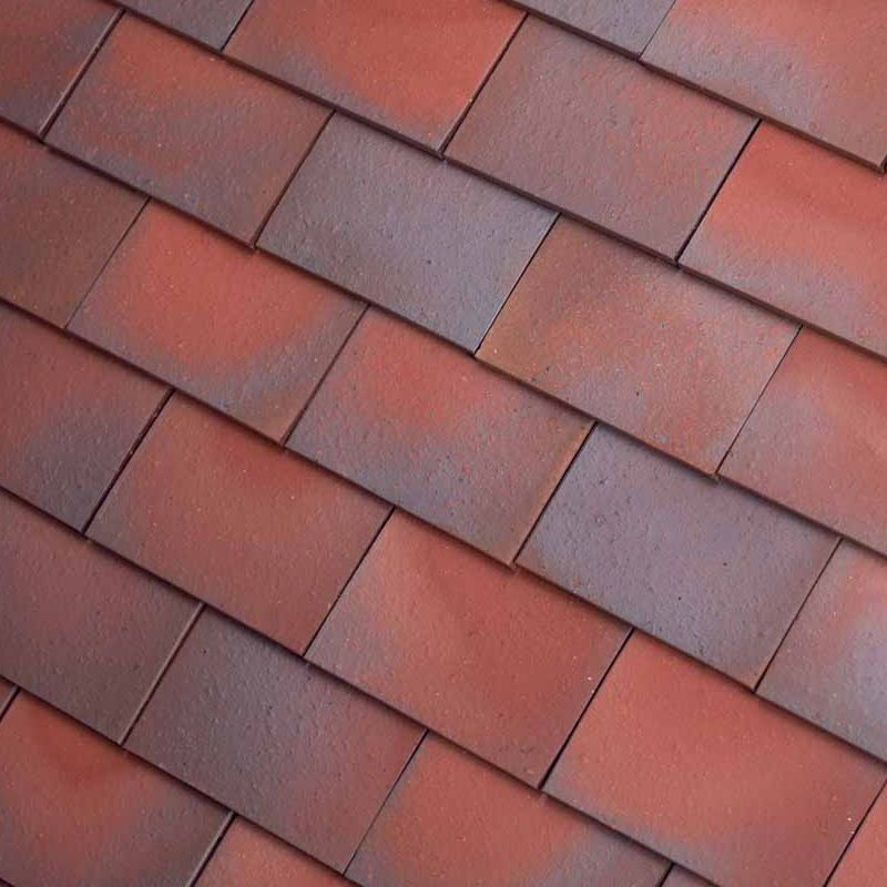 Dreadnought Premium Clay Roofing Tile Amp Half Red Blue