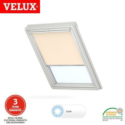 velux manual blackout blind dkl sk01 1085s light beige roofing superstore. Black Bedroom Furniture Sets. Home Design Ideas