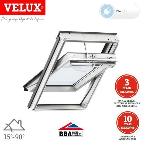 velux ggu sk08 006621u white centre pivot integra window 114cm x 140cm roofing superstore. Black Bedroom Furniture Sets. Home Design Ideas