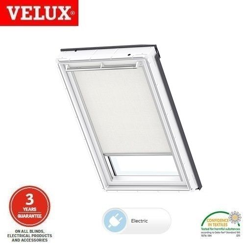Velux electric roller blind rml ck04 1028 white roofing for Velux window blinds remote control