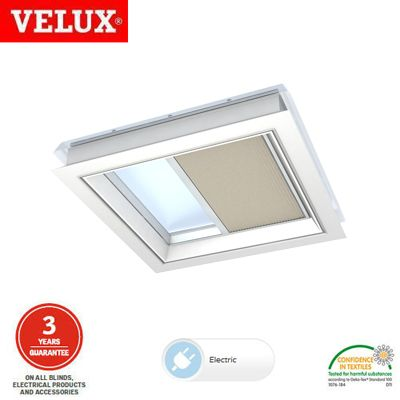 Velux fmg 120120 1259 remote control pleated blind for Velux window blinds remote control