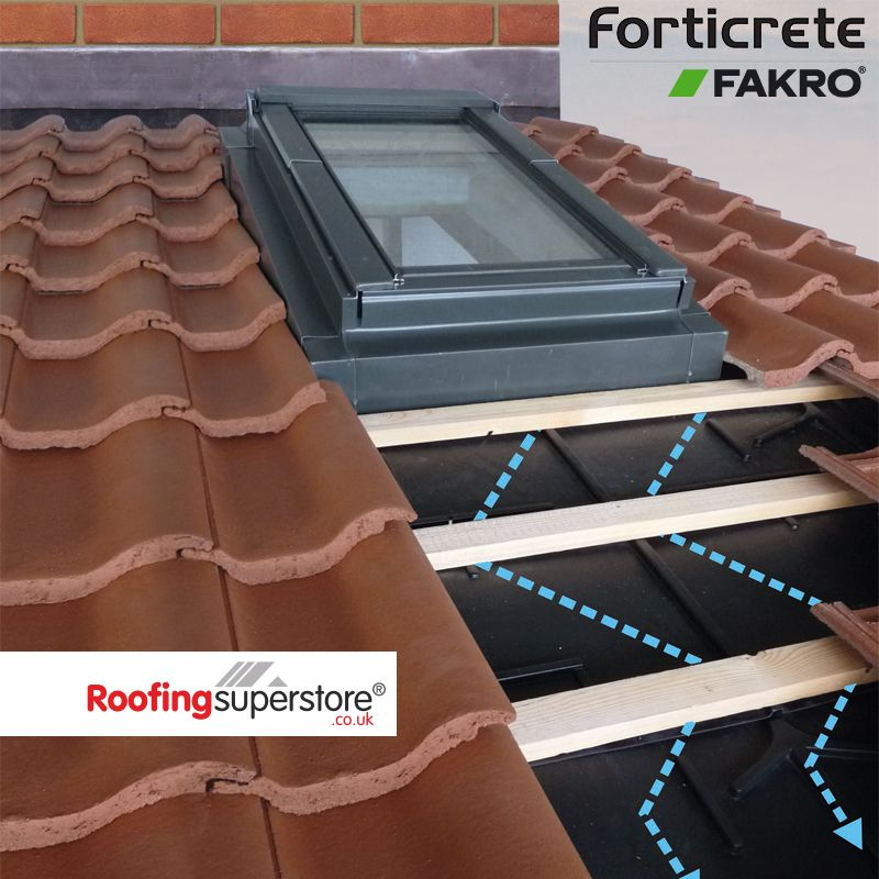 Fakro low pitch roof window system for forticrete Low pitched roof